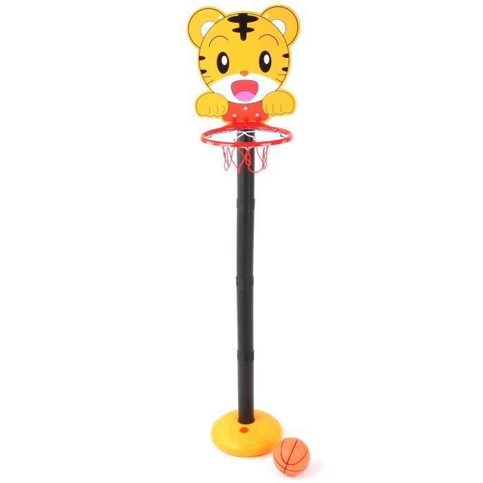 Fafeicy Support de panier de basket Enfants intérieur extérieur dessin animé station de levage panier de basket-ball support