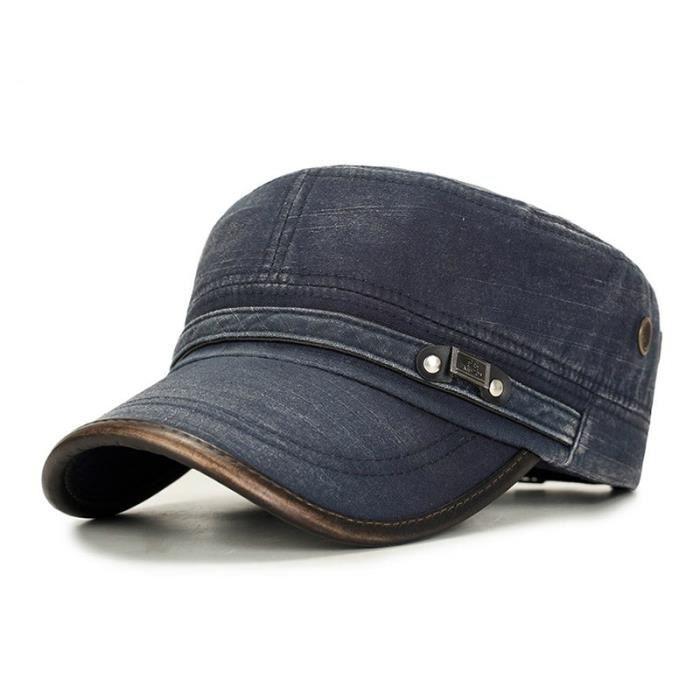 Casquette militaire pour hommes, 100% coton, Vintage, chapeau militaire, patrouille, casquette d' B adjustable
