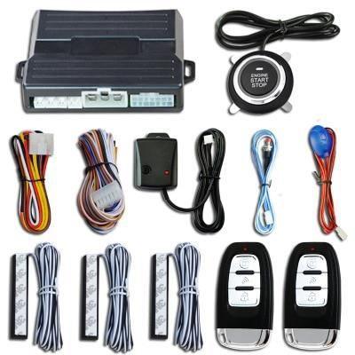 Antivol - Bloque Roue,Système d'alarme de démarrage de voiture sans clé, avec capteur de vibrations, bouton - Type model 3