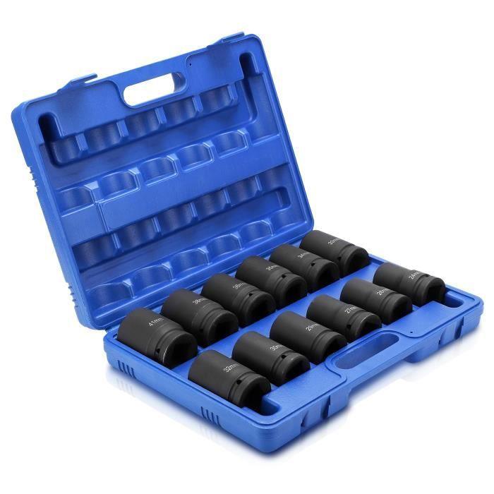 En Stock-Ensemble de douilles à impact profond de 12 pouces à entraînement durable, 24 à 41 mm -Surciel