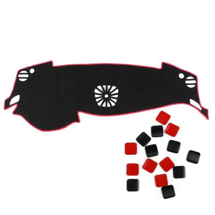 Fydun Couverture de Tableau de Bord Voiture Tapis Tableau de Bord Pare-soleil Anti-dérapant Pad Noir Fit pour 2013-2015