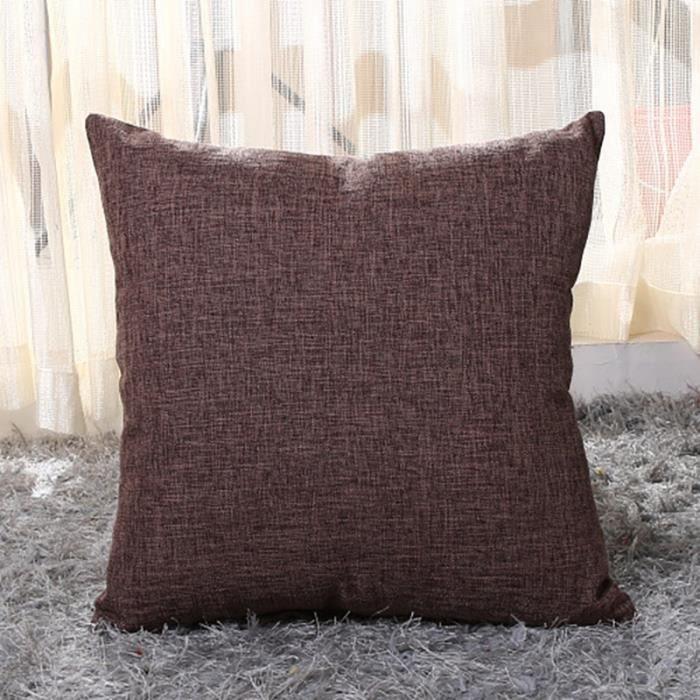 Housse de coussin,Couleur unie taille douce housse de coussin 50x50-40x40cm jeter couvre décor à - Type Coffee-300x500mm
