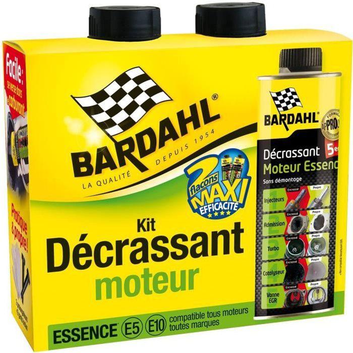 BARDAHL Pack Décrassant moteur Essence 5 en 1 le turbo, la vanne EGR, le filtre à particules, les soupapes