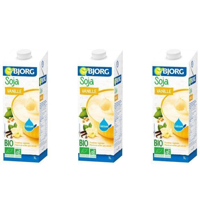 BJORG Boisson Soja Vanille Calcium Bio 1l