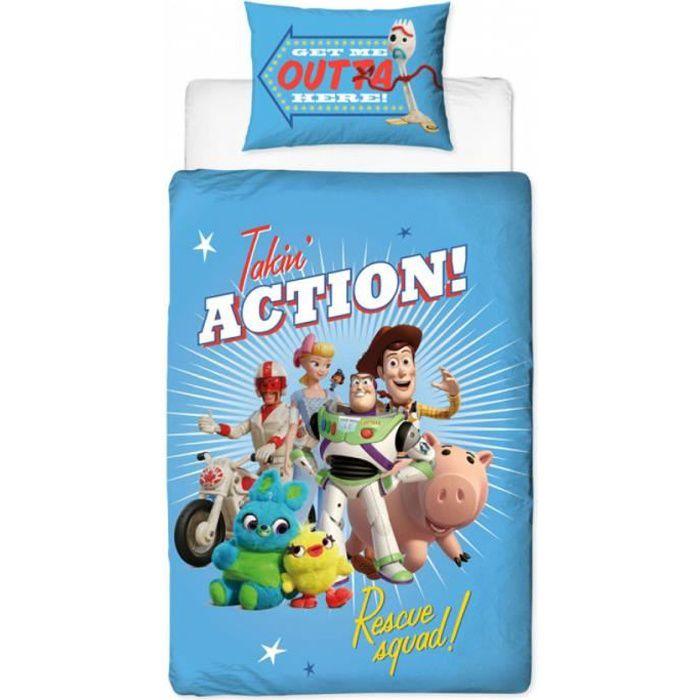 Ensemble housse de couette et taie d'oreiller Toy Story 4 Rescue