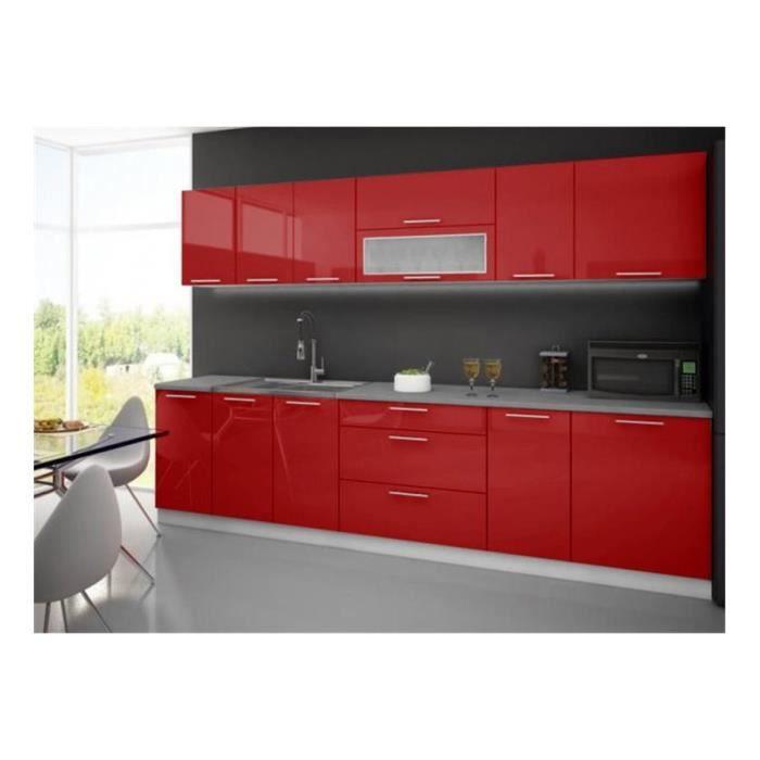 Cuisine complète LYDIA 300cm - Rouge