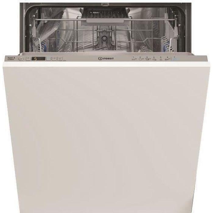 Lave-vaisselle tout intégrable INDESIT DIC3B+16ACS - 13 couverts - Largeur 60 cm - Classe A+ - 46 dB