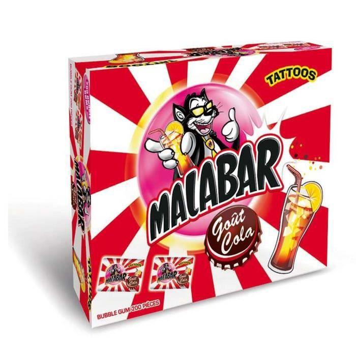 MALABAR Boîte de Chewing-gum Cola - 200 pièces