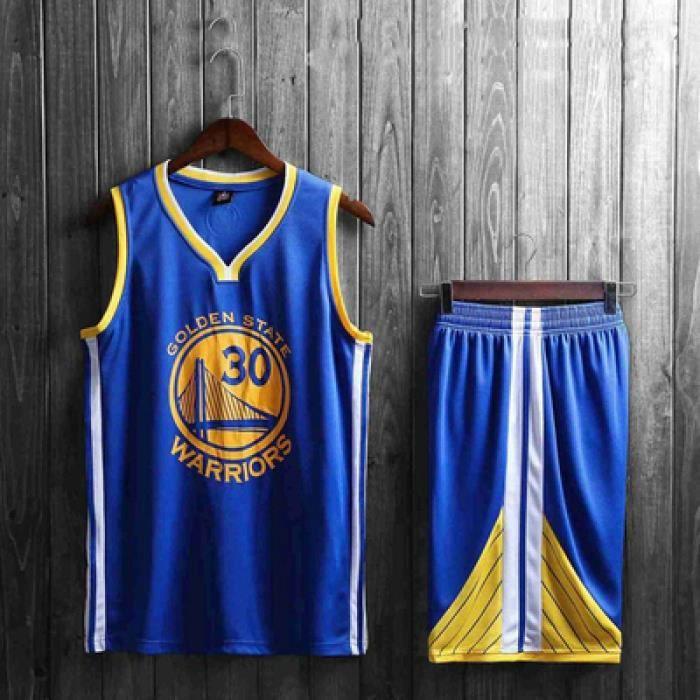 NBA Warriors NO.30 Curry Maillot et Shorts de basketball / Homme et Enfant /Blue