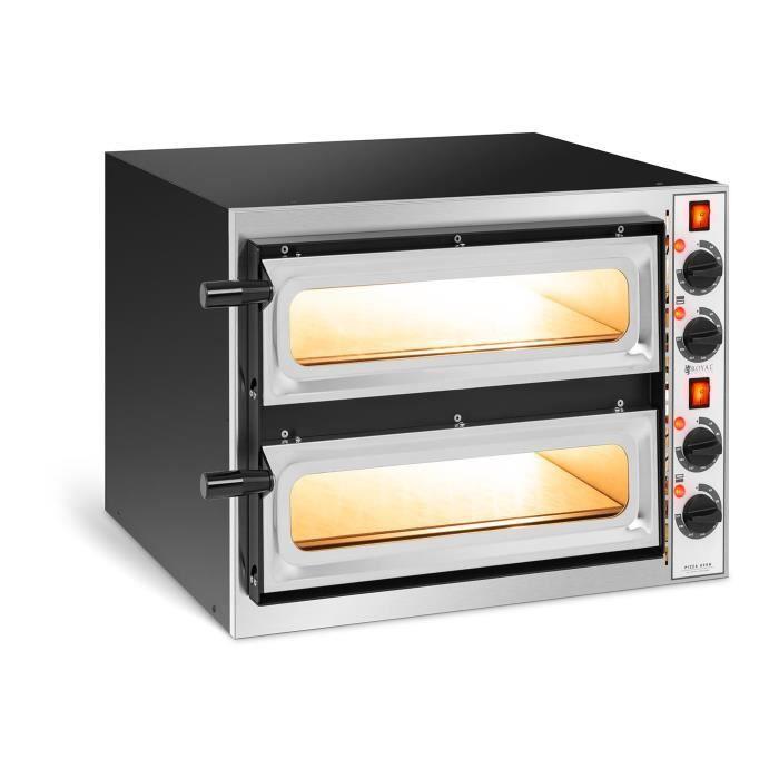 Royal Catering Four À Pizza Électrique Vitré 2 Étages 41x36x9cm 3,2kW 230V 320°C