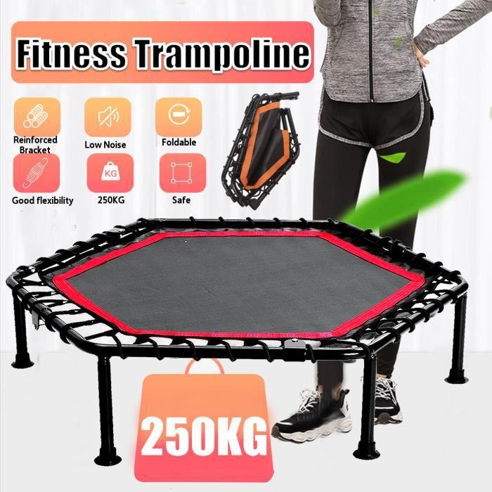 TEMPSA 40pouces Mini Trampoline Fitness silencieux sans barre de poignée réglable Trampoline intérieur rebond à l'élastique