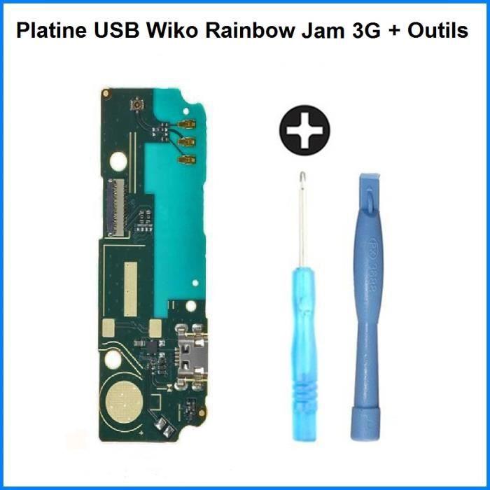 Connecteur de Charge USB Wiko Rainbow Jam 3G - 100% ORIGINAL + Outils