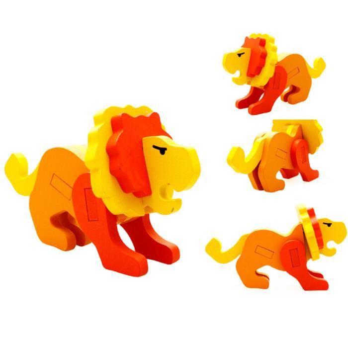 PUZZLE Fricemarke 3D animaux puzzle en trois dimensions -