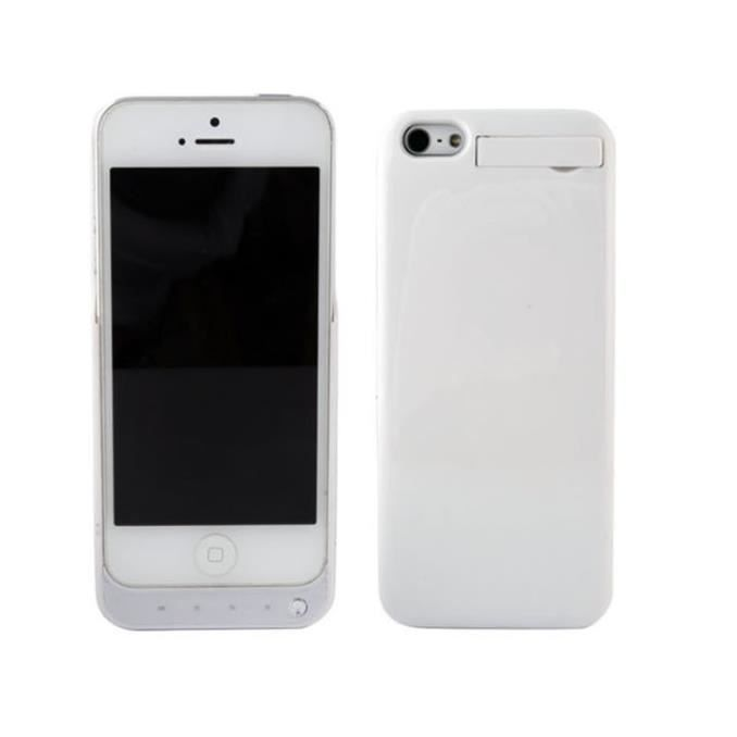 coque batterie externe pour iphone 5 5s blanc achat. Black Bedroom Furniture Sets. Home Design Ideas
