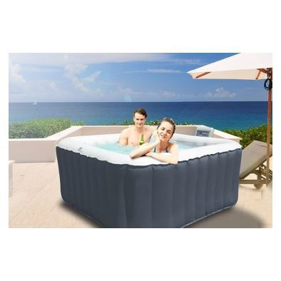 Spa gonflable alpine lite carr 4 places sele achat vente spa complet - Spa gonflable 8 places ...