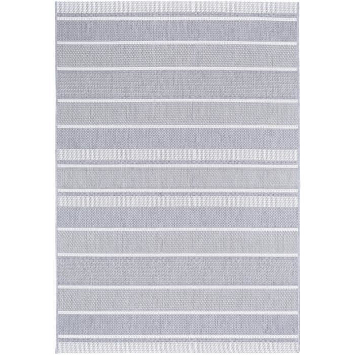 benuta tapis d 39 39 ext rieur essenza striped gris 120x170 cm 39 achat vente tapis cdiscount. Black Bedroom Furniture Sets. Home Design Ideas