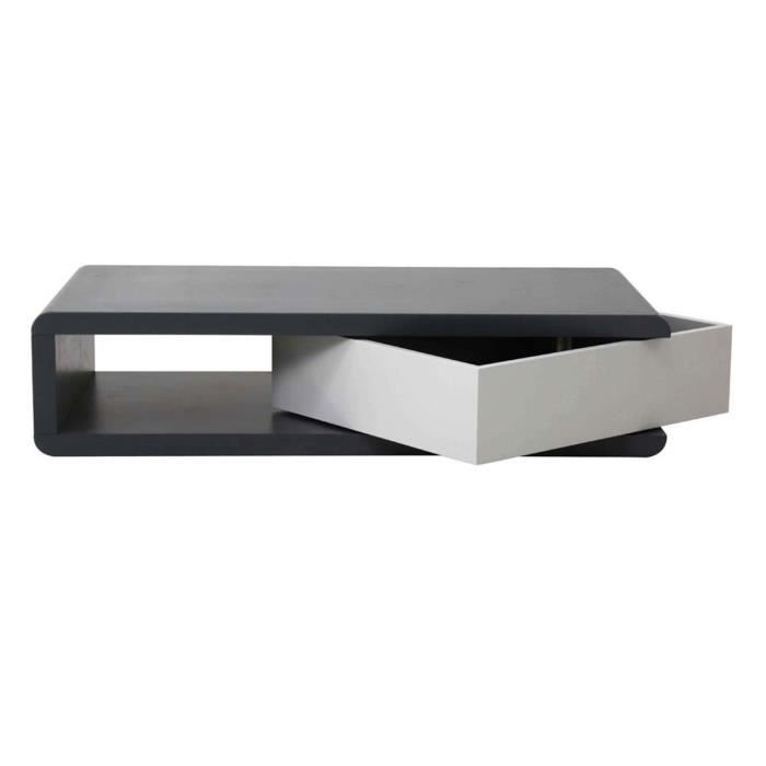Table basse design anthracite gris charme achat vente for Table basse gris anthracite
