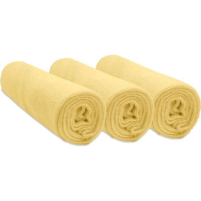 Lot de 3 Housses pour Matelas /à Langer coton 50x70-7 coloris disponibles Turquoise