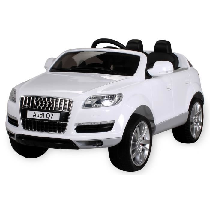 voiture lectrique pour enfants audi q7 blanc achat. Black Bedroom Furniture Sets. Home Design Ideas