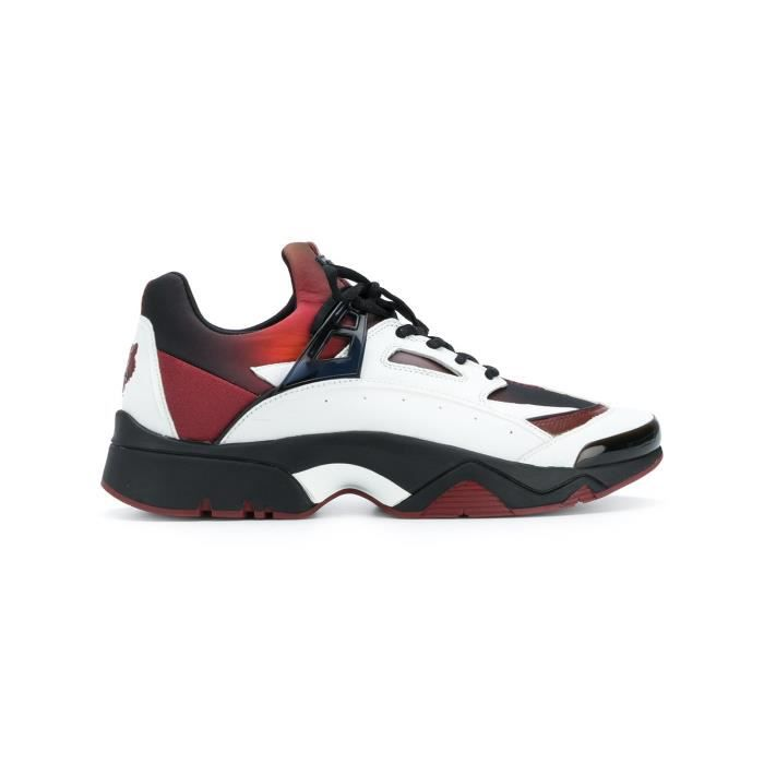 KENZO HOMME F765SN350F5421 BLANC/ROUGE POLYESTER BASKETS