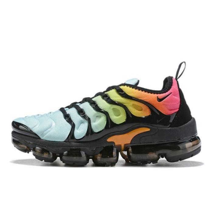 Nike Air VaporMax Plus Chaussure pour Homme NOIR BLEU - Cdiscount ...
