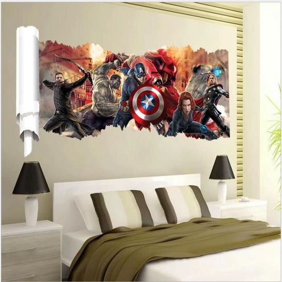 The Avengers Sticker Mural Stickers De Marvel Pour Chambre Denfants