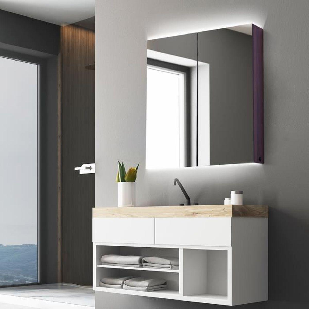 Miroir Eclairant Salle De Bain armoire lumineux salle de bains