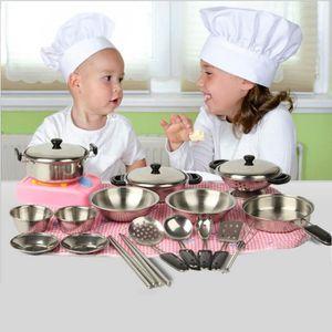 DINETTE - CUISINE 20pcs en acier inoxydable pots casseroles ustensil