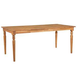 TABLE À MANGER SEULE ETO Table à d?ner d'extérieur 180x90x75 cm Bois so