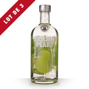 VODKA 3X Absolut Pears (Poires) 70cl  - Vodka
