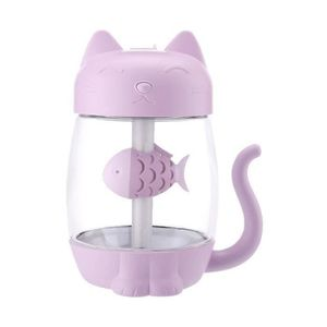 HUMIDIFICATEUR ÉLECT. MAI 3 en 1 LED Humidificateur Chat mignon humidifi