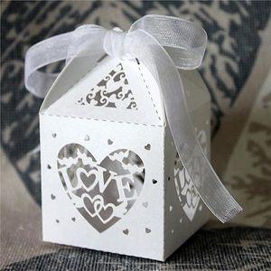 BOÎTE À DRAGÉES 50pcs Boîtes à Dragée De Mariage(Blanc) J0630F