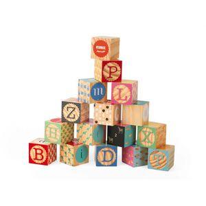 CUBE ÉVEIL Kubix - 16 cubes alphabet gravés (bois)