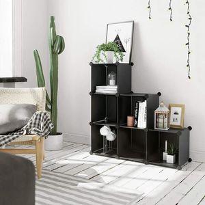 /étag/ères de rangement pour un salon /Étag/ères de s/éparation descalier une chambre,Black