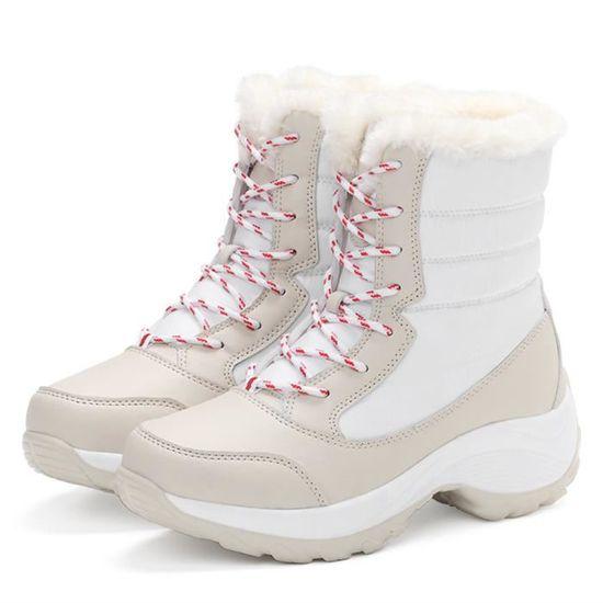 Nouvelle neige 2018 Extravagant Taille Femme chaud 35 au Peluche de Chaussures Bottes Chaussure Garder Mode 41 Hiver courte iZOPkXu