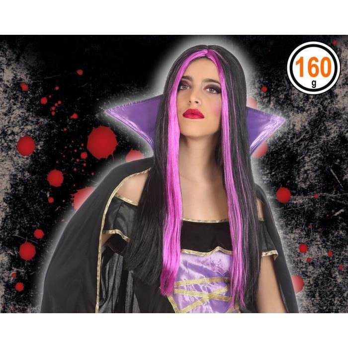 ATOSA - Perruque vampire Adultes Femmes - Fuchsia