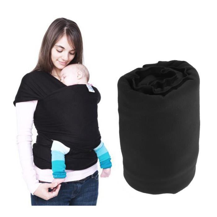 Noir Transporteur de sécurité nouveau-né sac à dos Maman avant transportant Sling Bag Wrap
