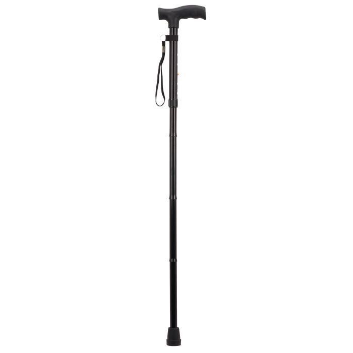 Canne pliante avec étui AUTONOMIE ET BIEN ÊTRE TMI 6786 - Ajustable en hauteur - De 84 à 94 cm