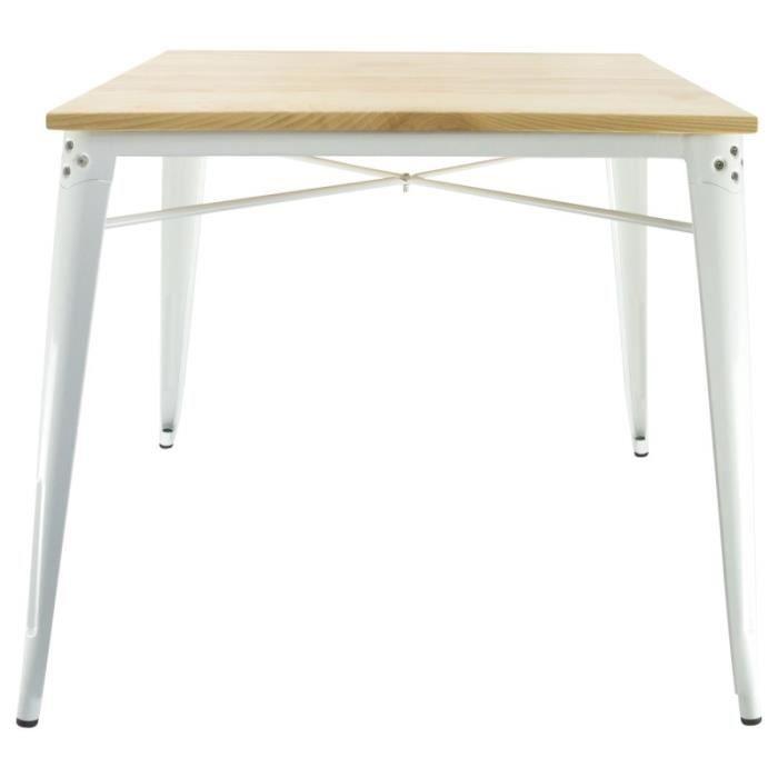 table industrielle finition bois design