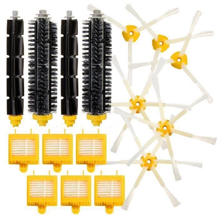 Kit De 2 paire de extracteur brosse +6 Garde Filtre + 6 Brosse Latérale Pour iRobot Roomba série 700 Aspirateur Outil