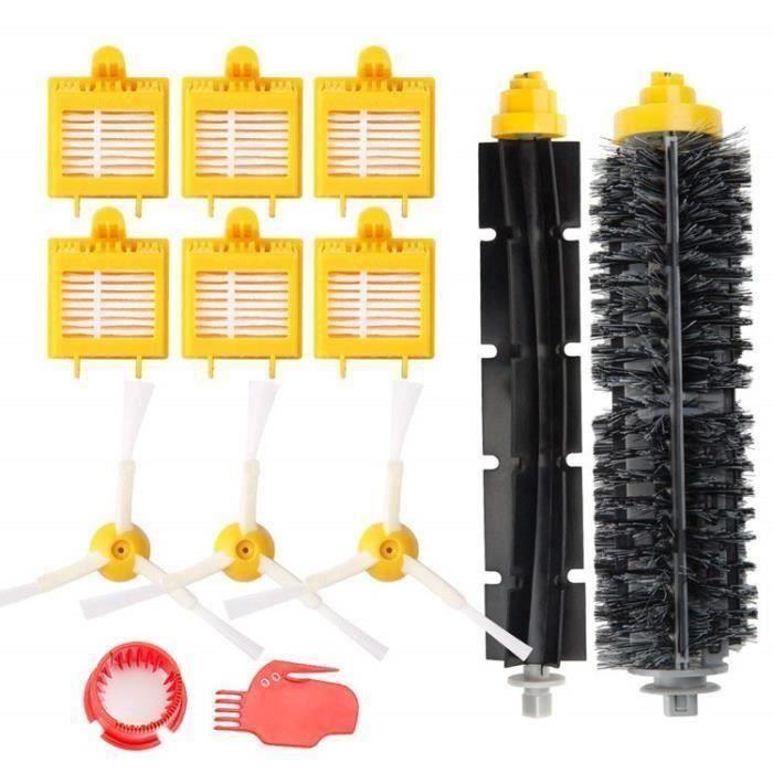 Remplaçant Brosse Kit Pièces accessoires pour iRobot Roomba série 700 760 761 765 770 772 776 780 785 786 790-Un Kit de 13 I02F03