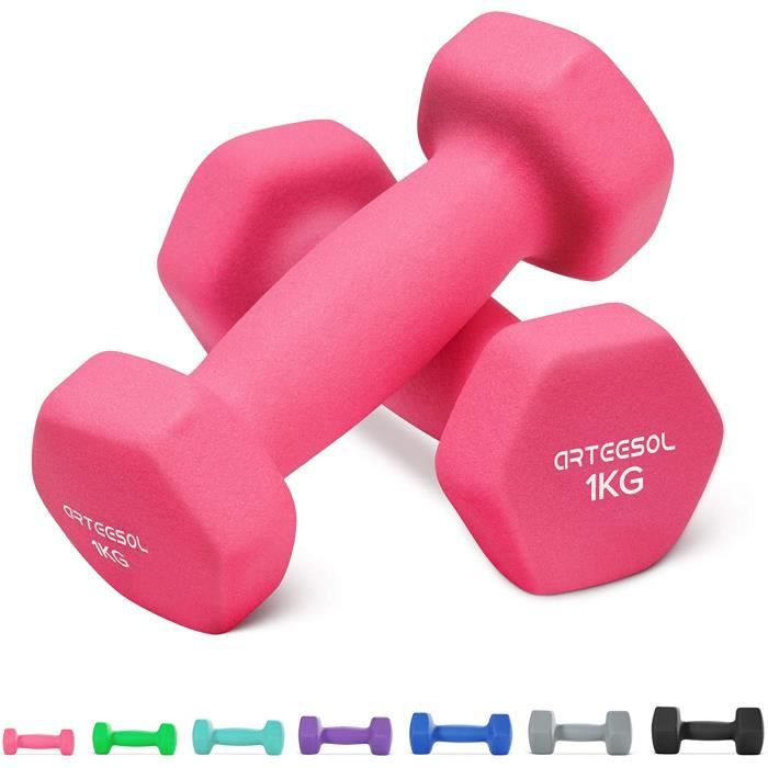 Fitness Haltères 1kg-2kg-3kg-4kg-5kg-8kg Paires d'haltères légers très Lourds pour Les Hommes Femmes Poids Gymnastique à la Ma[59]