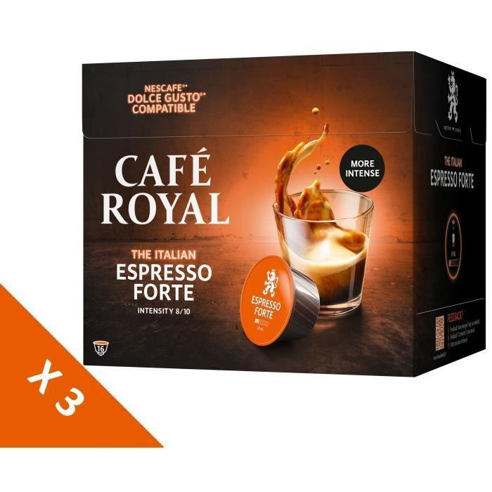 [Lot de 3] CAFE ROYAL Café Compatible Dolce Gusto Espresso Forte x16