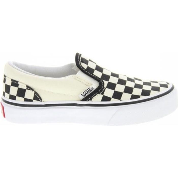 Baskets mode Vans K Classic Slip On Checkerboard Black/White