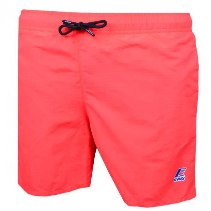 Short de bain K-way orange fluo pour homme - Taille: S - Couleur: Orange