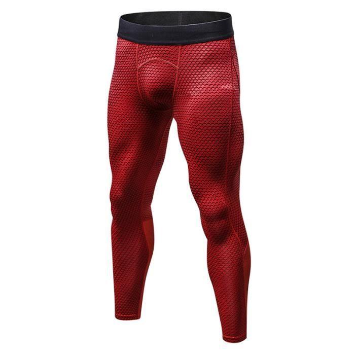 Pantalon de Sport Homme Legging de Compression Fitness Musculation Stretch Séchage Rapide