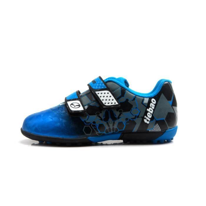 Chaussures de Football Enfant Crampons Professionnel Spike Chaussures de Foot pour Garçon Fille Antidérapant Entrainement