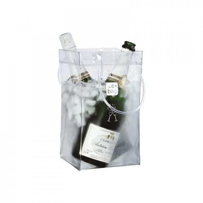 magnifique cuisine arts de la table seaux a glace ice bag - 17411 - seau a glace ice bag transparent 2 bouteilles