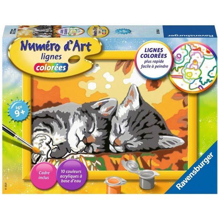 Numéro d'art - petit - Deux chatons couchés