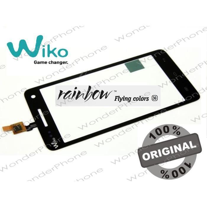 Vitre Tactile Wiko Rainbow 3G Noir GARANTIE 100% Original WIKO France